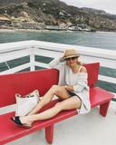 Candace Cameron Bure - legs/cutoff jean shorts - instagram (4 pics +vid)